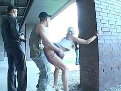 Fucking hot blonde in public