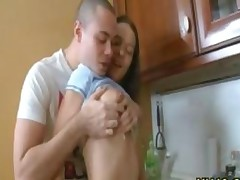 Cute Swedish Teen Taboo Sex With Older Brother In Kitchen