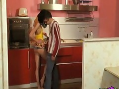 Anal Games In Kitchen