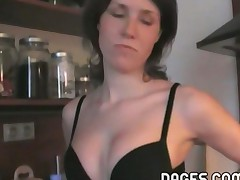 Arousing Pussy Toying In The Kitchen