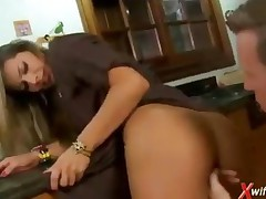 Spanish Housewife Fucks In The Kitchen