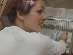 Pussy Masturbating In The Kitchen