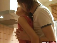Amateur Couple Kitchen Fucking