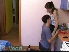 Young Couple Fucking In The Kitchen