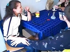 Kitchen Teen Orgy