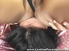 Nude Lesbian Facesitting