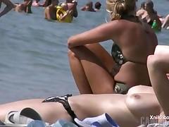 At A Nudist Beach