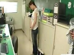 Japanese Teen Begins Work As A Nudist Office Cleaner