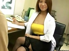 Japanese Asian Nurse Sucking Cock