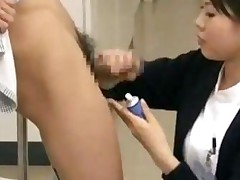 Dutiful Japanese Nurse Services Patient In Public Hospital