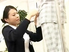 Dutiful Japanese Nurse Services Patient In Public Hospital