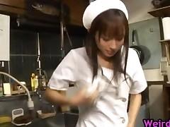 Hot Nurse Mika Osawa Fucking A Dildo