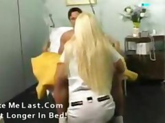 Perfect Blonde Babe As A Hot Nurse