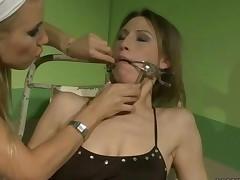 Sexy Nurse Dominating Slavegirl