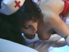 Naughty Nurse Fucked In Fishnets And A Garter