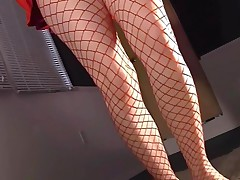 Masturbating In Pantyhose With Stiletto High Heels