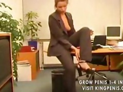 Pantyhose Chick Fucked In The Office