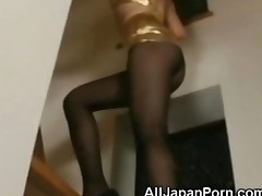 Japanese Babe In Pantyhose