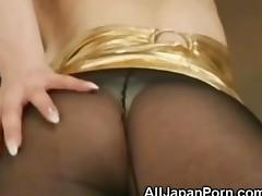 Japanese Babe In Pantyhose
