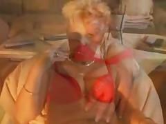 Mature Blondie In Pantyhose