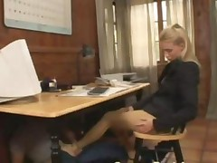 Extremely Sexy Blonde Fucked In Pantyhose