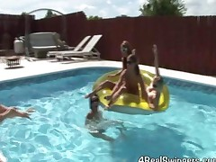 Swinger Girls In Lesbian Pool Party