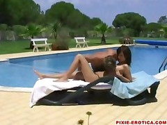 Hot Teen Gets Fucked Stupid By The Pool
