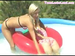 Teen Lesbians In Pool