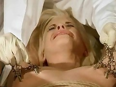 Young Blonde Getting Painfully Punished And Fucked