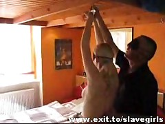 Abusing And Punishing Slavegirl Sandra