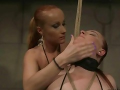Mistress Punishing Busty Chubby Girl