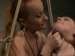 Mistress Punishing Busty Chubby Girl