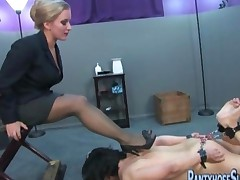 Mistess Dia Zerva Pantyhose Punishment Of Bound Male
