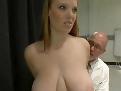 Busty Chubby Redhead Fails A Medical Exam And Gets Punished..
