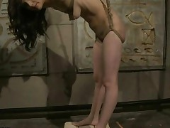 Gorgeous Brunette Getting Painfully Punished