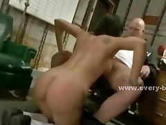 Sexy Babes In Locker Room Playing Dirty Punished By Pervert..