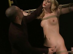 Blonde Getting Bondaged And Punished