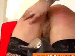 Redhead In Fishnets Fucks Old Man