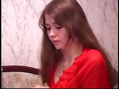 Russian Teen In Pantyhose Takes It Anal
