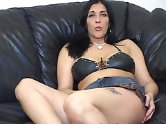 Jerk Off Teacher Demos Masturbation With Her Legs Spread