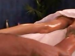 Blonde Cheerleader Gets A Massage