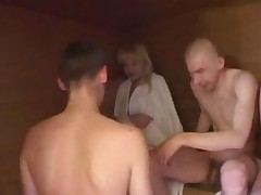 Four Teen Boys Having Sex With Teen Girl In Sauna