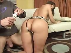 Hot milf fucks her husband young friend
