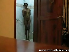 Spying My Ebony Ex Gf Rita In The Shower