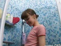 Crystal Clear Teen In The Shower