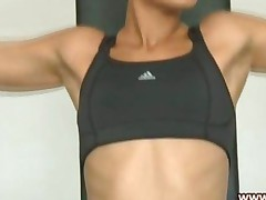 Hot Teen In The Gym