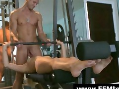 Gigi And Teagan Fucking A Thick Cock In The Gym