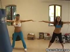 Hot Gym Lesbos!
