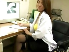 Sexy Japanese Nurse In Stockings