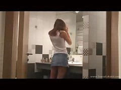 Ivana Fucks In The Bathroom Wearing Stockings